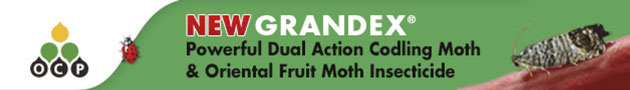 New Grandex - powerful dual action Codling Moth and Oriental Fruit moth insecticide
