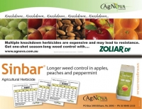 Two residual herbicides, Sinbar and Zoliar, have been enjoying renewed popularity keeping orchards cleaner for longer.